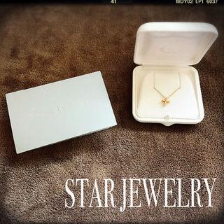 STAR JEWELRY 18kクロスネックレス