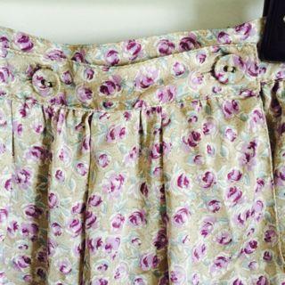gaminerie パープル 花柄スカート