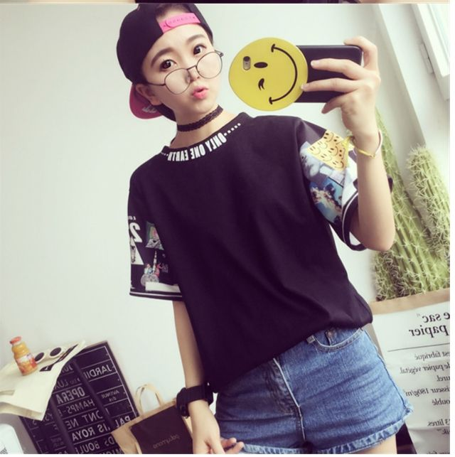 SALE Tシャツ 半袖 面白プリント 黒 L おしゃれ - フリマアプリ&サイトShoppies[ショッピーズ]