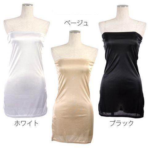 新品ベアトップドレス2wayインナー ペチコート ブラック