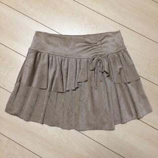 美品 LIZ LISA ミニスカート ベロア ベージュ