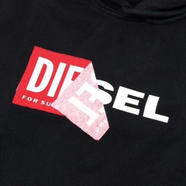 Diesel パーカー ロゴ ブラック  S ディーゼル