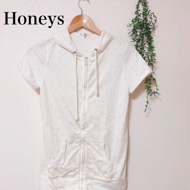 Honeys Mサイズ ロング丈パーカー ゆめかわいい(Honeys(ハニーズ) ) - フリマアプリ&サイトShoppies[ショッピーズ]
