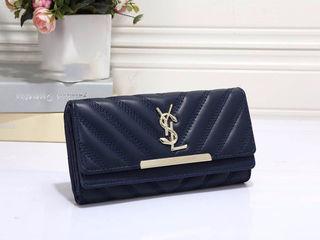 人気美品 可愛い長財布 レディース サンローラン