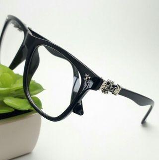 だてめがね 眼鏡 メガネ メンズ レディース シルバー 黒
