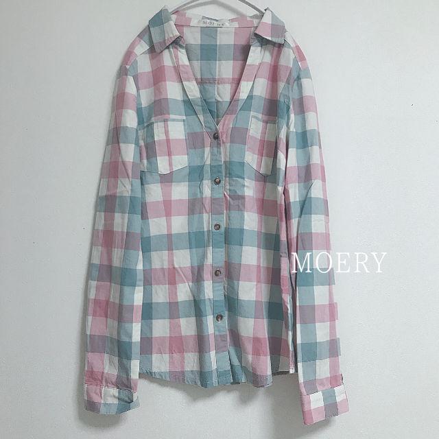 Moery チェックシャツ(MOERY(モエリー) ) - フリマアプリ&サイトShoppies[ショッピーズ]