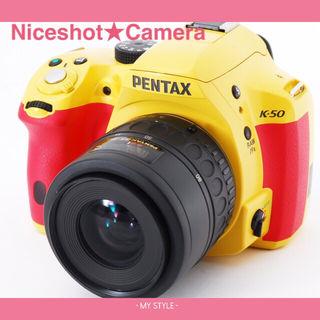 16GBイエロー×ピンクのレアカラーペンタックスK-50
