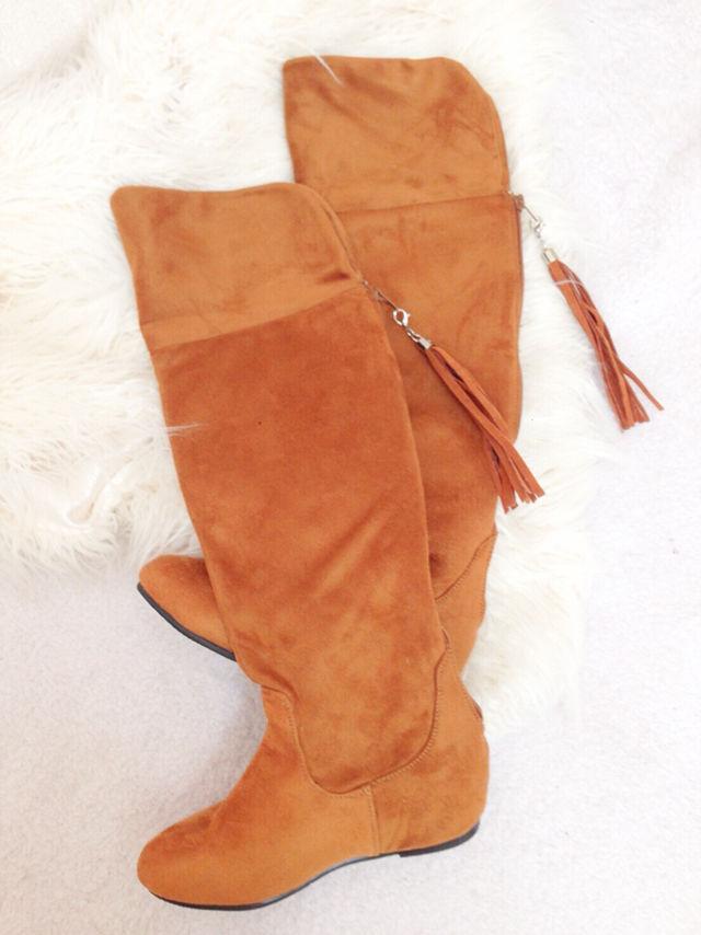 07【新品同様】importスウェードブーツ/靴