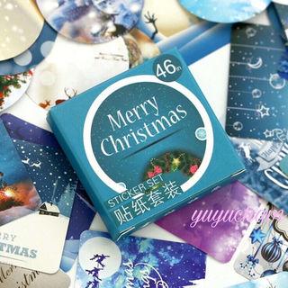 海外 クリスマス ミニシール 46枚セット