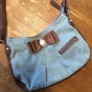 minplumeデニム地がかわいいバッグ
