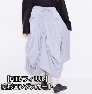 【Fillil/フィリル】スウェット地変形ロングスカート