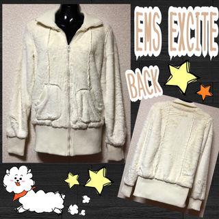 【EMS EXCITE】フェイクファーフルジップジャケット