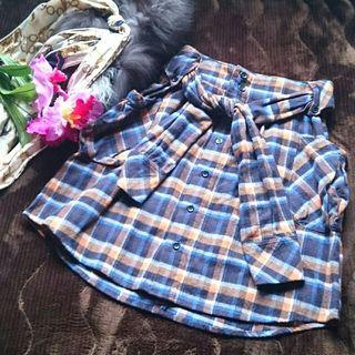 美品!アナザーエディションチェックシャツ×スカート