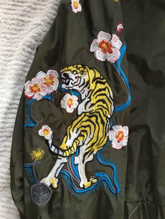Brats MA-1 カーキ 刺繍