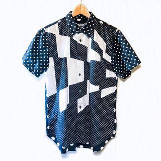 ブラックコムデギャルソン パッチワークシャツ ユニセックスM