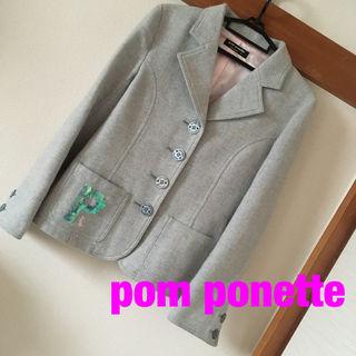 ポンポネットウール素材テーラードジャケット