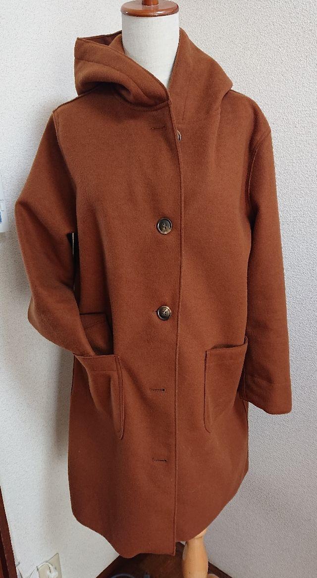ブラウンあったかフードコートジャケット