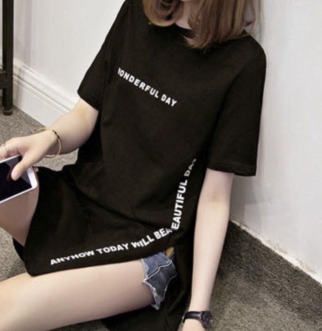 半袖Tシャツワンピース