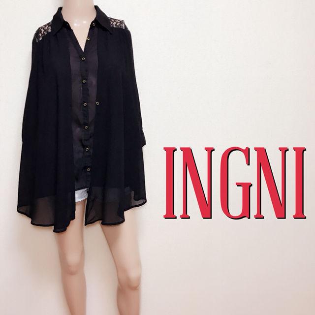 ゆるかわイング バックレース デザインブラウス(INGNI(イング) ) - フリマアプリ&サイトShoppies[ショッピーズ]