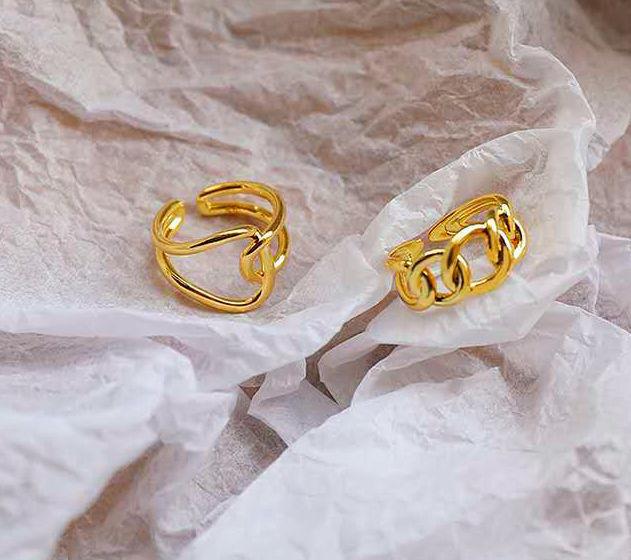 2個セット 指輪ゴールド ペアリング フリーサイズ