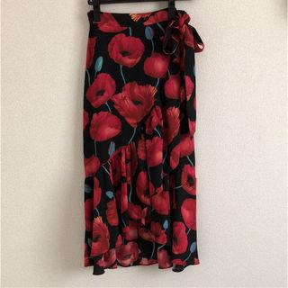 【新品タグ付き】H&M バラ柄 ロングスカート