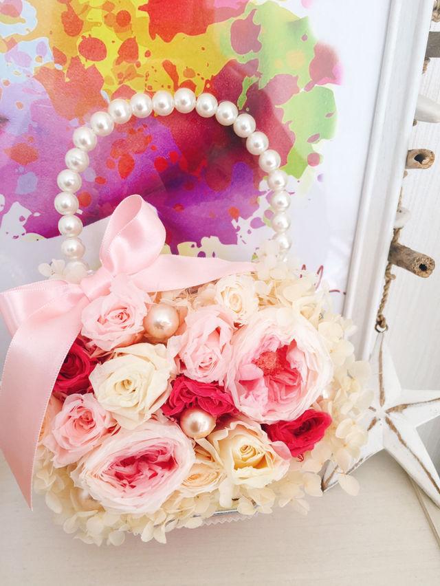 プリザーブドフラワー バッグ 可愛い 花 結婚式