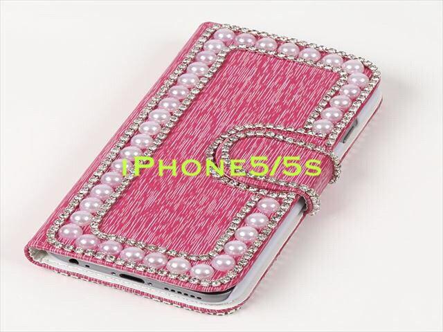 ハンドメイドiPhone5/5s ケース ピンク