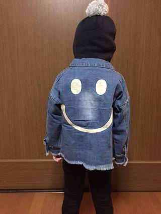 ニコちゃん刺繍  デニムジャケット