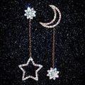 星と月の ピアス レディース 1ペア(2個セット)