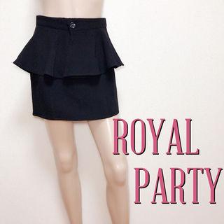 爆かわロイヤルパーティー 2wayペプラムスカート