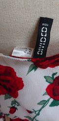H&M花柄肩だしフリルセクシー長袖カットソー