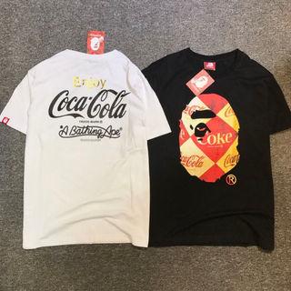 BAPE×COCA COLA Tシャツ 2色 おしゃれ