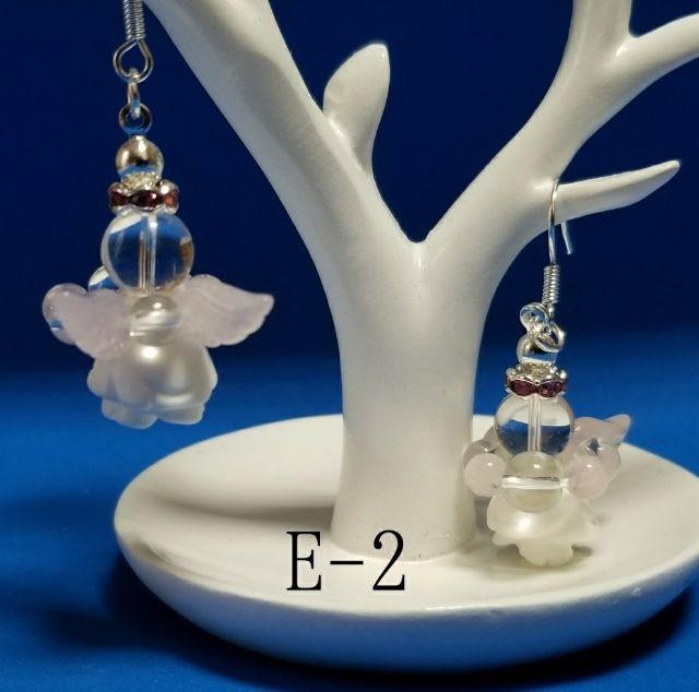 天使のピアス« 天然石» E-2(ノーブランド ) - フリマアプリ&サイトShoppies[ショッピーズ]