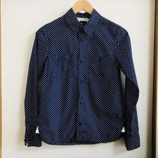 Lee(リー)のドットシャツ M【紺×白】
