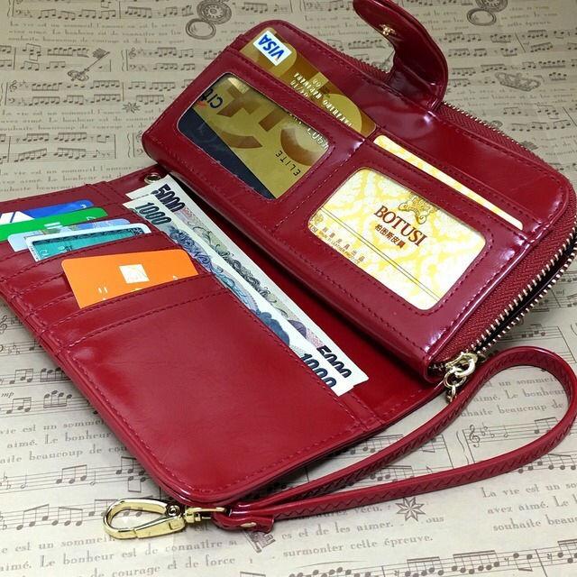 9a60499b2c02 ... 赤 - フリマアプリ&; 高級長財布 しっとりしたレザー仕様 新品レディース長財布 ...