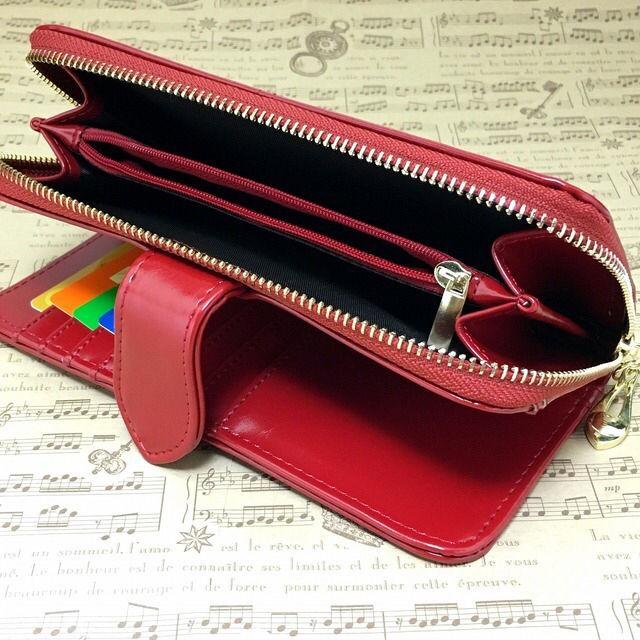 330dab9e0708 高級長財布 しっとりしたレザー仕様 新品レディース長財布赤 - フリマ ...