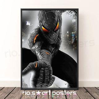 ブラックスパイダーマン/ヴェノム/アメコミ/アートポスター