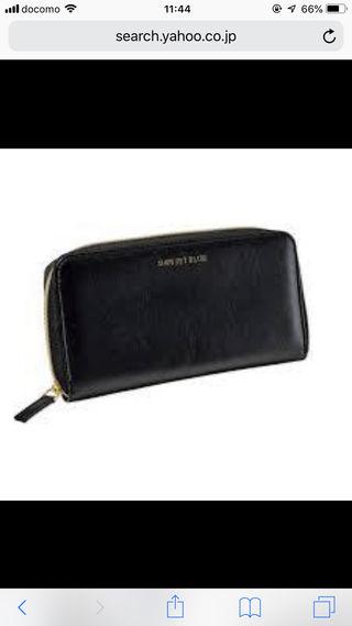 シップスジェットブルー上質レザー製長財布