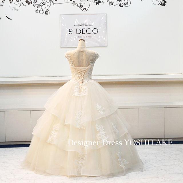 ウエディングドレス(パニエ無料) アイボリープリンセスドレス
