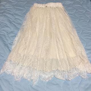 ロングレーススカート