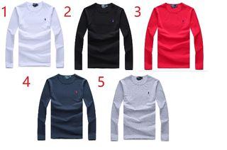 POLO高質新品ポロ ラルフローレン男性用Tシャツ長袖5色