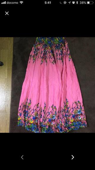 花柄ロングスカート!