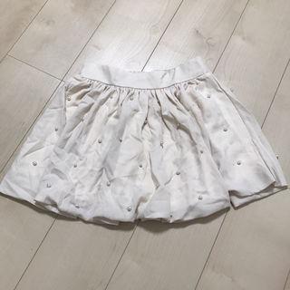 ビジュー パール スカート