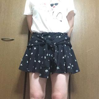 キュロット スカート 黒