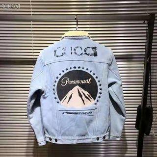 グッチ 男女兼用 カップル デニムジャケット コート