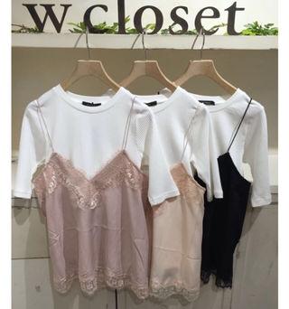 W closet キャミソール