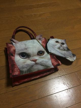あちゃちゅむ 女の子 猫 バッグ