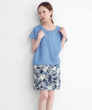 KBF+ フラワープリントスカート