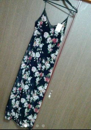 ストラディバリウス 花柄キャミロングOP