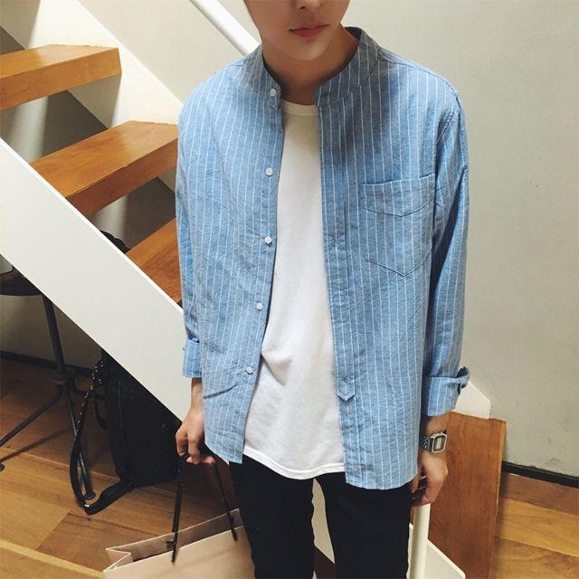 シャツ新品メンズシャツ 長袖 カジュアルおしゃれD1-1 - フリマアプリ&サイトShoppies[ショッピーズ]